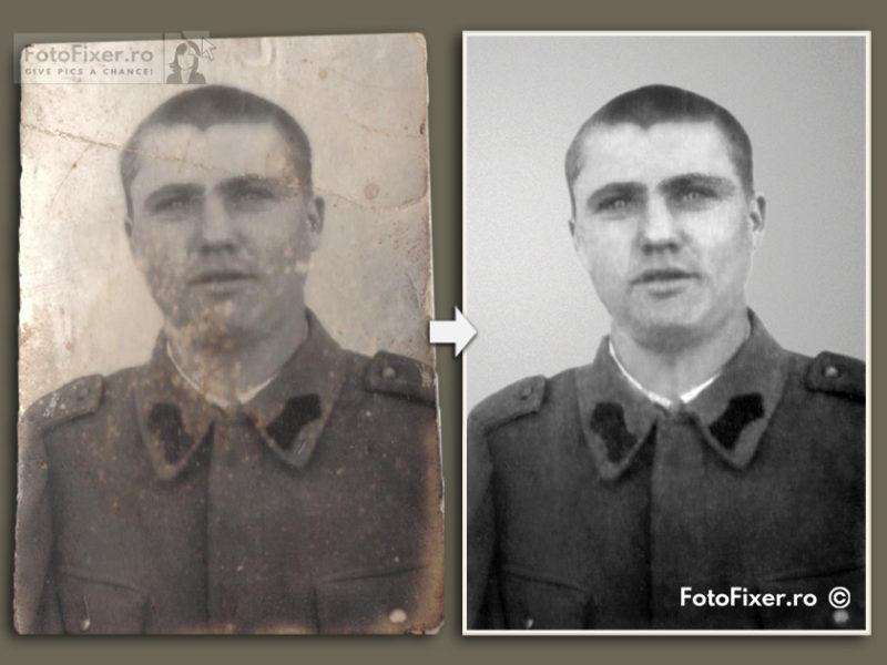 Poza soldat restaurare fotografie dmensiuni mici tip buletin fotofixer 800x600 - Restaurare fotografii vechi - FotoFixer