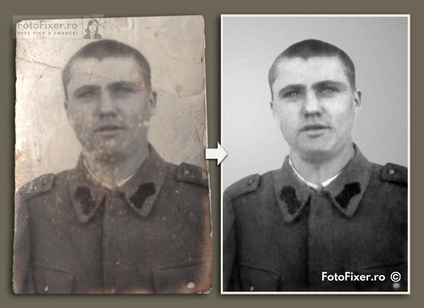Poza soldat restaurare fotografie dmensiuni mici tip buletin fotofixer - Retusare foto (retusare poze, retusare fotografii) - FotoFixer