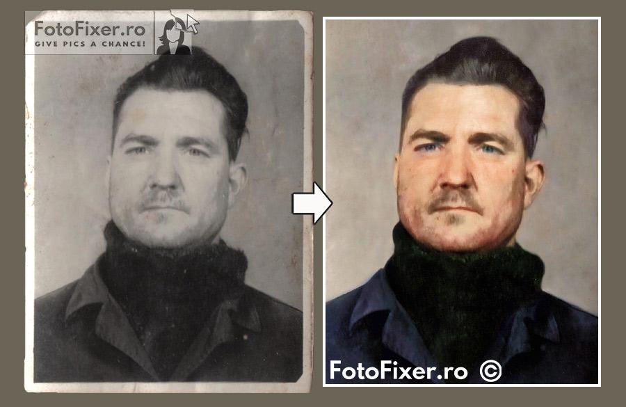 colorizare fotografie veche b  rbat - Exemple restaurare fotografii vechi - FotoFixer