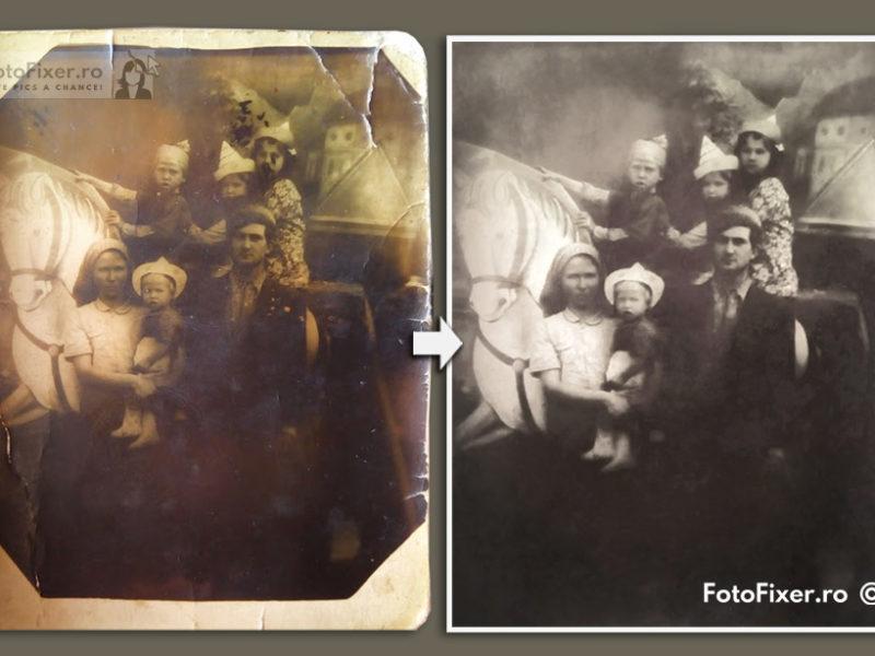 fotografie familie la b  lci anii 50 restaurat   de fotofixer 800x600 - Restaurare fotografii vechi - FotoFixer