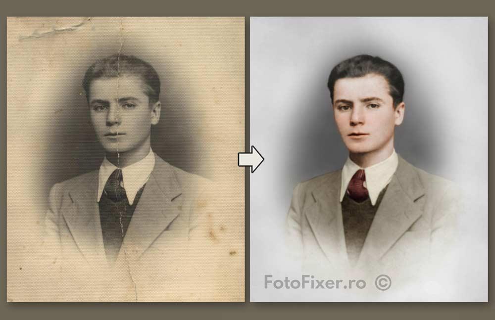 reconditionare poze vechi exemplu - Exemple restaurare fotografii vechi - FotoFixer