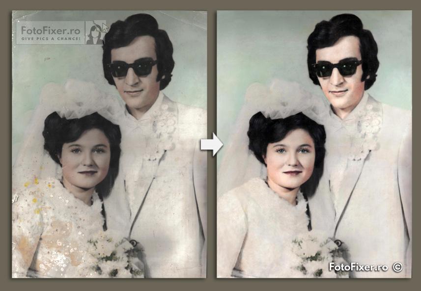 restaurare fotografie nunt   fotofixer - Exemple restaurare fotografii vechi - FotoFixer
