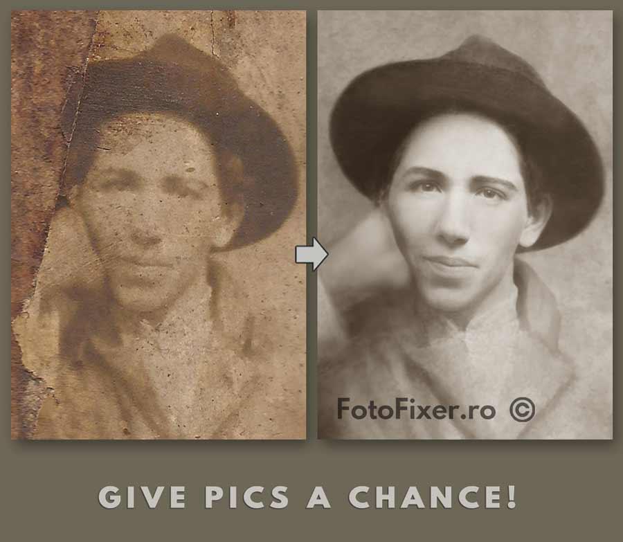 retusare foto portret restaurat - Retusare foto (retusare poze, retusare fotografii) - FotoFixer