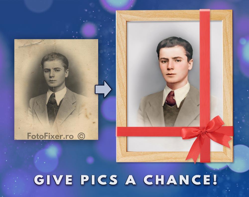 Cadouri personalizate poza veche retusata colorata inramata - Cadouri personalizate, cadouri unice și emoționante cauți? Iată ideea: - FotoFixer